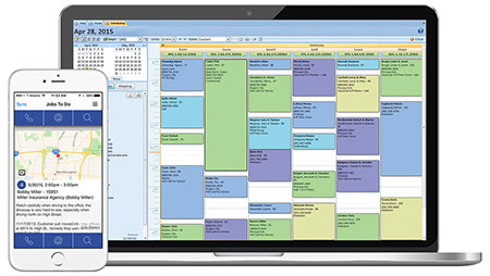 garage door scheduling software