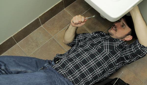 A handyman does repairs.