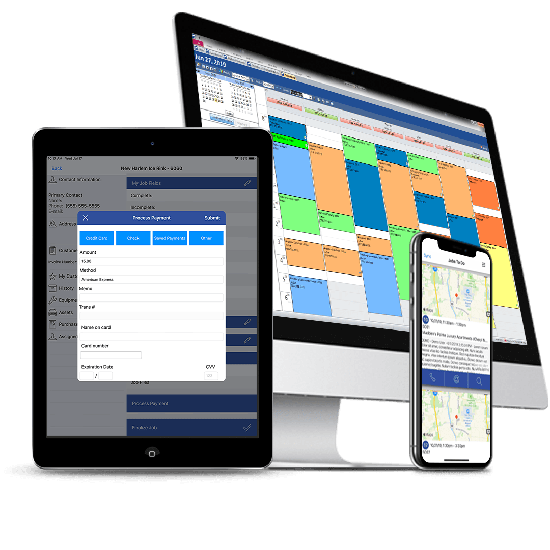Smart Service Software on Windows and iFleet on mobile devices.