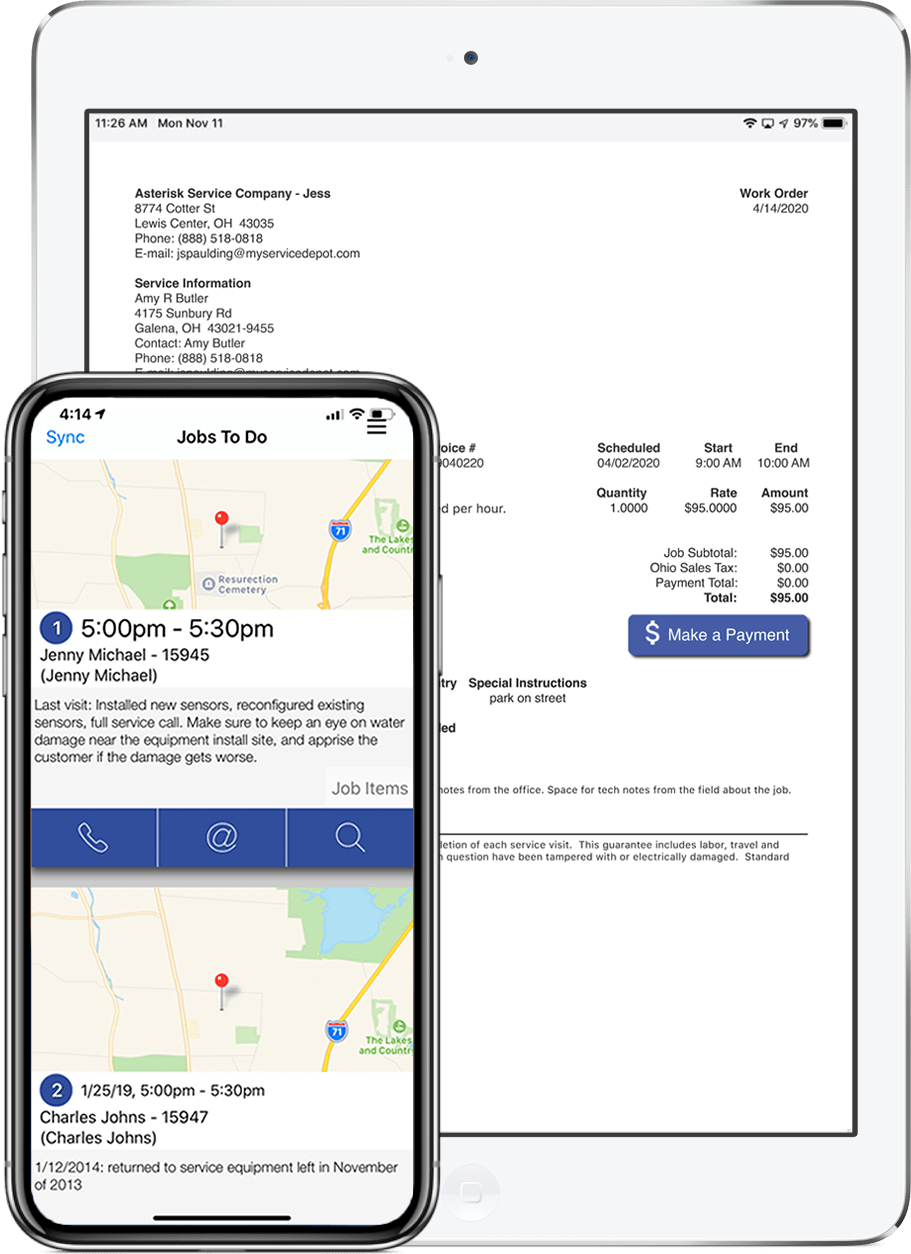 field service management app